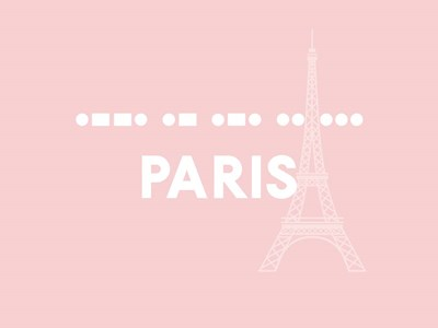 Paris - Pink Eiffel art print by Linda Woods for $41.25 CAD