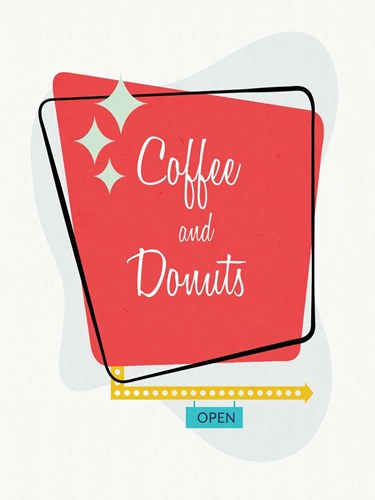 Coffee and Donuts art print by Linda Woods for $41.25 CAD