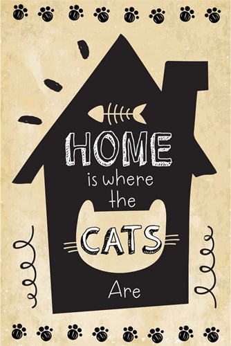 Home is Where the Cats Are art print by ND Art & Design for $43.75 CAD