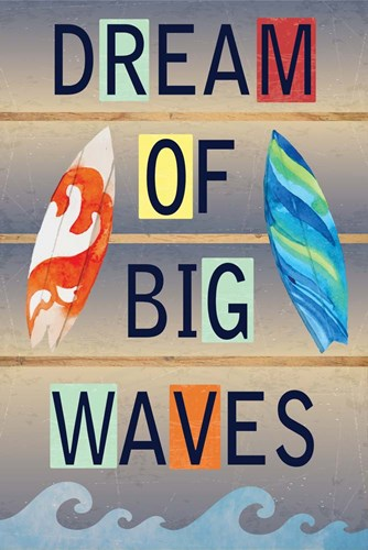 Dream of Big Waves art print by ND Art & Design for $43.75 CAD