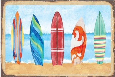 Surf Boards art print by ND Art & Design for $43.75 CAD