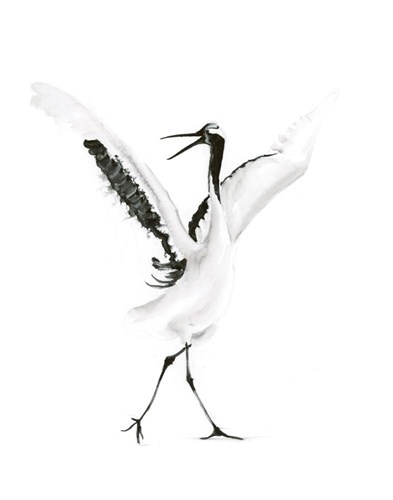 Dancing Bird II art print by Olga Shefranov for $40.00 CAD
