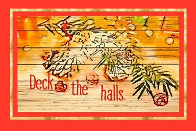 Deck the Halls art print by Ramona Murdock for $43.75 CAD