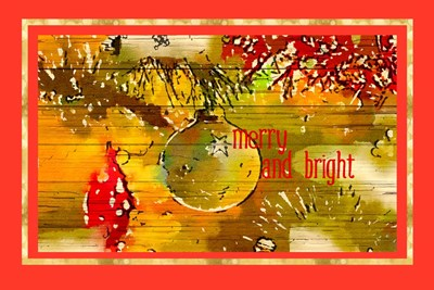 Merry and Bright II art print by Ramona Murdock for $43.75 CAD