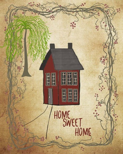 Home Sweet Home art print by Ramona Murdock for $40.00 CAD