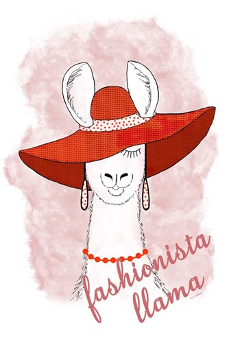 Fashionista Llama art print by Ramona Murdock for $43.75 CAD