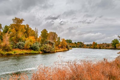 Snake River Autumn V art print by Ramona Murdock for $43.75 CAD