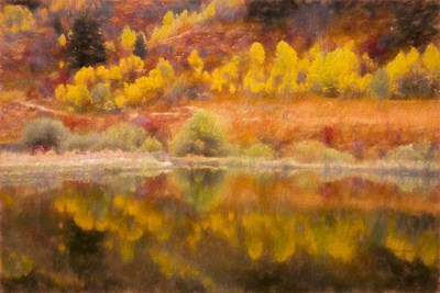 Autumn's Reflection art print by Ramona Murdock for $43.75 CAD