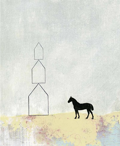 Horse and Home art print by Sarah Ogren for $55.00 CAD