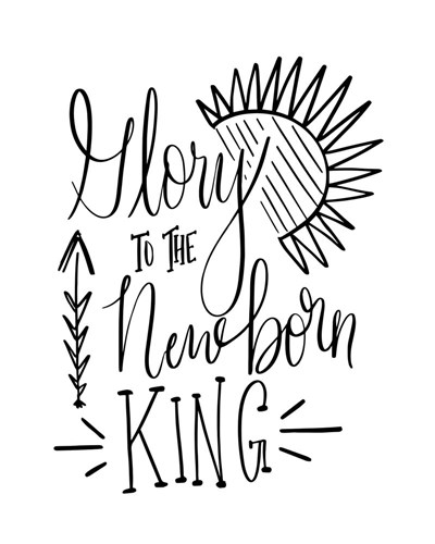 Glory to the Newborn King III art print by Tara Moss for $40.00 CAD
