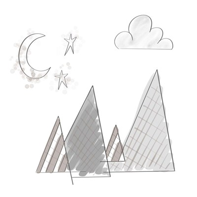Moon and Mountains art print by Tara Moss for $35.00 CAD