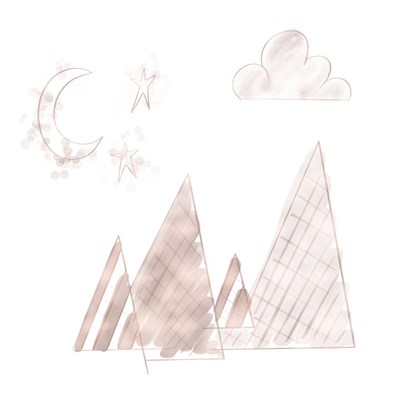 Moon and Mountains Pink art print by Tara Moss for $35.00 CAD