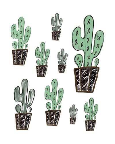 Cactus Collage art print by Tara Moss for $40.00 CAD