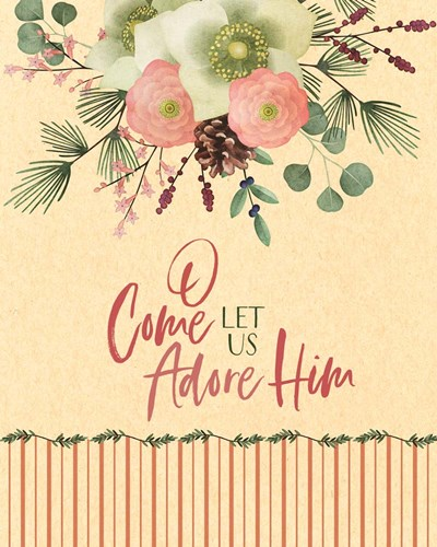 O Come Let Us Adore Him art print by Tammy Apple for $40.00 CAD