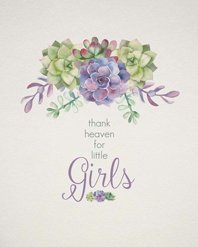 Thank Heaven for Little Girls art print by Tammy Apple for $40.00 CAD