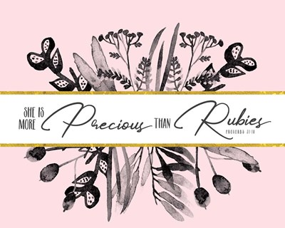 More Precious Than Rubies art print by Tammy Apple for $40.00 CAD