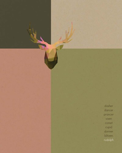 Geometric Reindeer Names art print by Tammy Apple for $40.00 CAD