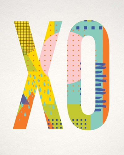 X O art print by Tammy Apple for $40.00 CAD