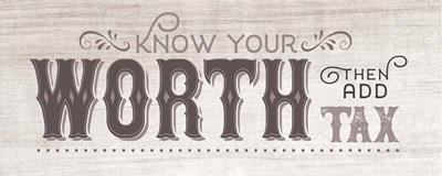 Know Your Worth BW art print by Tammy Apple for $37.50 CAD