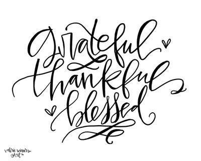 Grateful Thankful Blessed art print by Valerie Wieners for $42.50 CAD