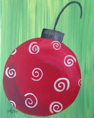Red Ornament art print by Valerie Wieners for $40.00 CAD
