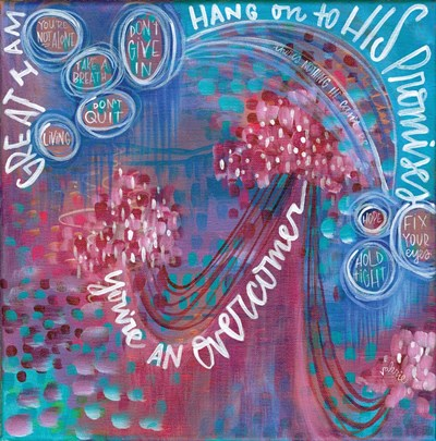 Hang on to His Promises art print by Valerie Wieners for $35.00 CAD