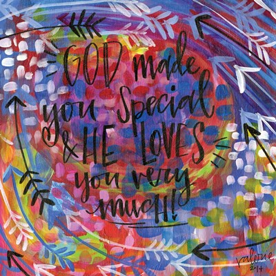 God Made You Special art print by Valerie Wieners for $48.75 CAD