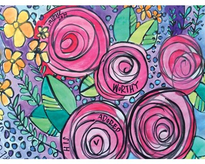 Worthy Roses art print by Valerie Wieners for $42.50 CAD