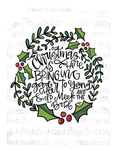 Christmas is Here art print by Valerie Wieners for $40.00 CAD