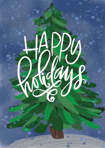Happy Holidays art print by Valerie Wieners for $42.50 CAD