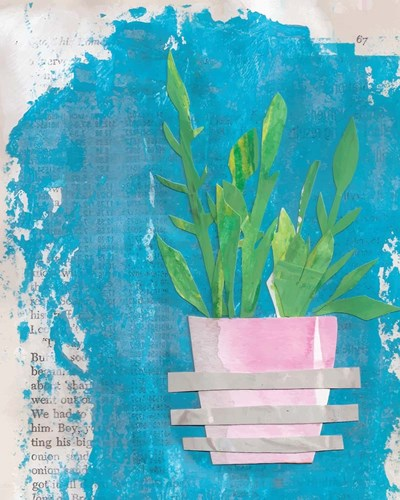Striped Pot art print by Cindy Willingham for $56.25 CAD