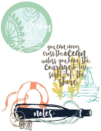 Ahoy Graphics art print by Cindy Willingham for $57.50 CAD