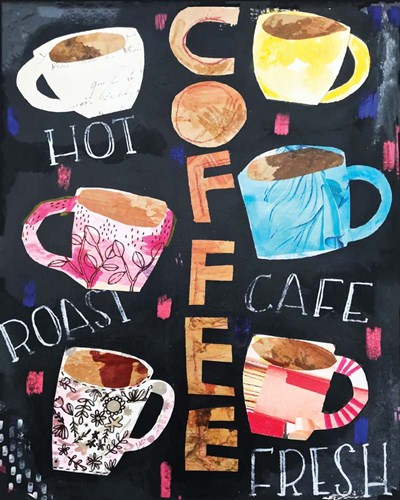 Coffee Collage art print by Cindy Willingham for $56.25 CAD
