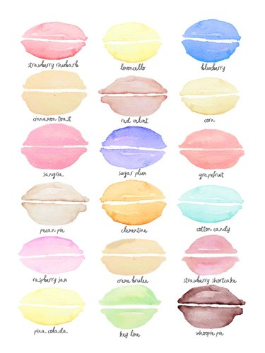 Macaron Flavors art print by Cindy Willingham for $58.75 CAD
