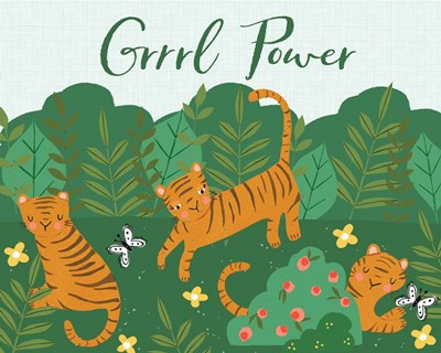 Grrrl Power art print by Cindy Willingham for $56.25 CAD