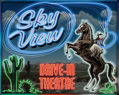 Skyview Drive In II art print by Yellow Caf? for $40.00 CAD