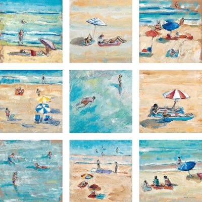 A Day at the Beach art print by Adolf Llovera for $92.50 CAD