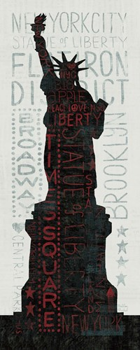 Statue of Liberty - Red art print by Michael Mullan for $123.75 CAD