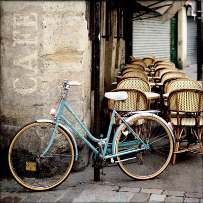 Cafe Bicycle art print by Marc Olivier for $93.75 CAD