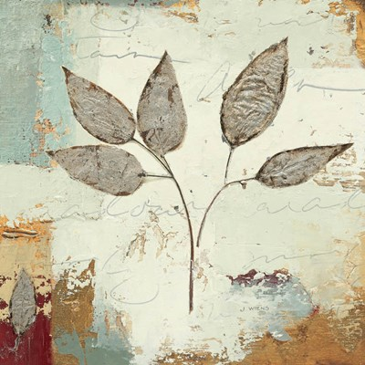 Silver Leaves III art print by James Wiens for $51.25 CAD