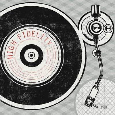 Vintage Analog Record Player art print by Michael Mullan for $77.50 CAD
