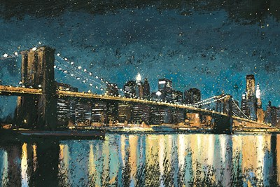Bright City Lights Blue I art print by James Wiens for $160.00 CAD