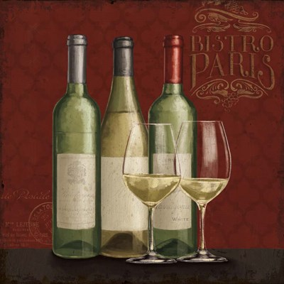 Bistro Paris White Wine art print by Janelle Penner for $83.75 CAD