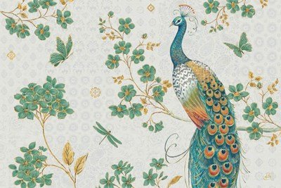 Ornate Peacock IV Master art print by Daphne Brissonnet for $46.25 CAD