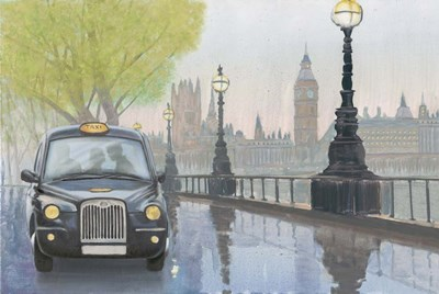 Along the Thames v.2 art print by Myles Sullivan for $65.00 CAD