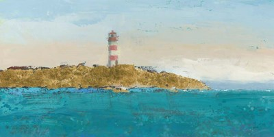Lighthouse Seascape I art print by James Wiens for $55.00 CAD