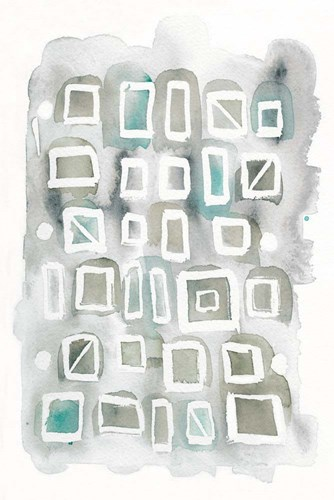 Watercolor Squares art print by Elyse DeNeige for $75.00 CAD