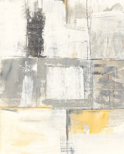Gray and Yellow Blocks II White art print by Mike Schick for $58.75 CAD
