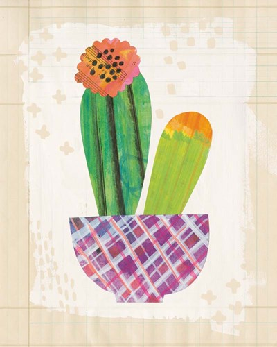 Collage Cactus II on Graph Paper art print by Melissa Averinos for $58.75 CAD