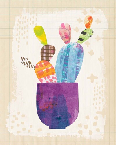 Collage Cactus III on Graph Paper art print by Melissa Averinos for $58.75 CAD